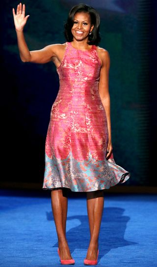 Michelle Obama in A Tracy Reese Dress and J.Crew Pumps