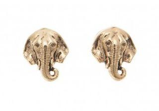 stylish gold stud earrings