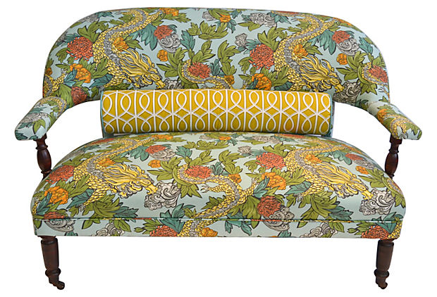 Dwell Studio Dragon-Print Settee