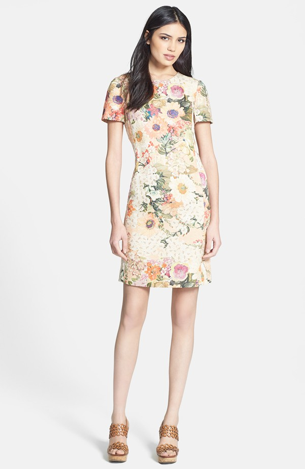 Tory-Burch Kayle-Print-Woven-Sheath-Dress
