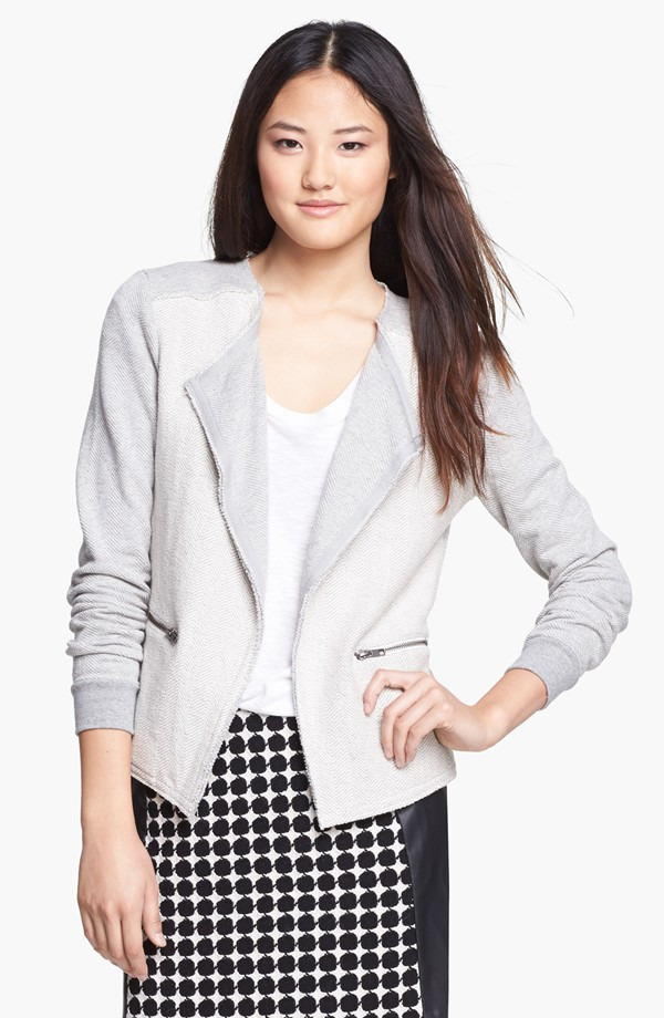 comfortable structured knit blazer