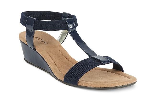 Navy Blue Sandal Wedges - My Favorite