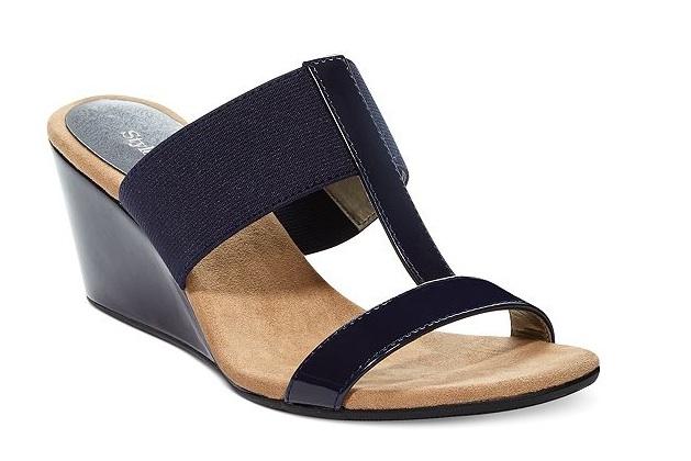 Dressy Navy Wedge Sandals ~ Navy Wedge Sandals