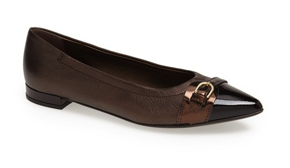 pointy toe flat shoe
