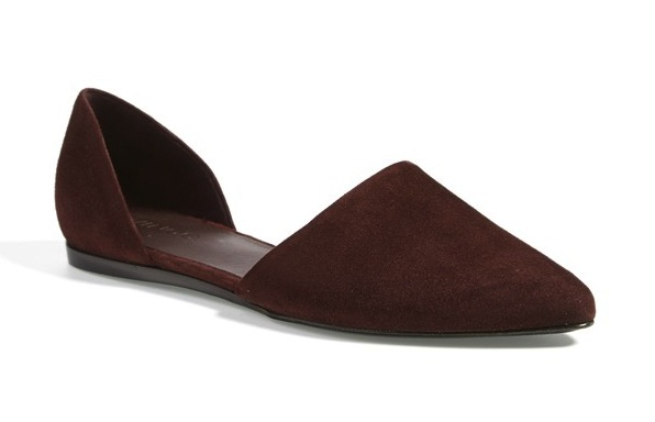 suede pointy toe flats