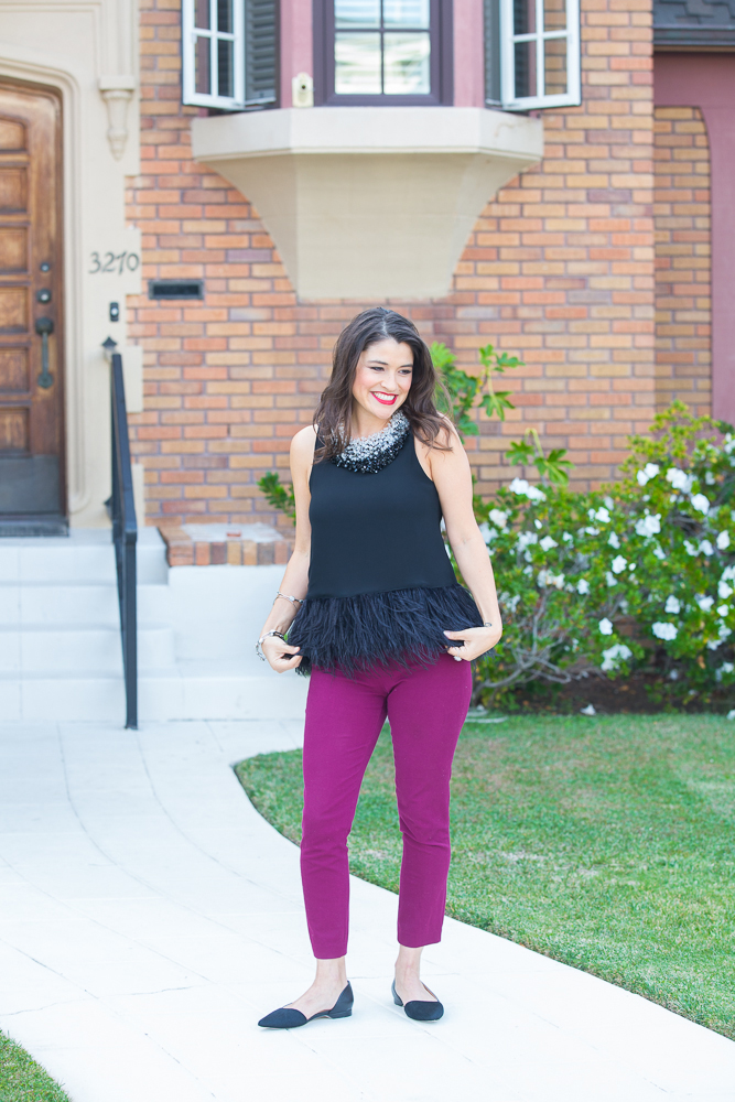 how to wear pointed toe flats