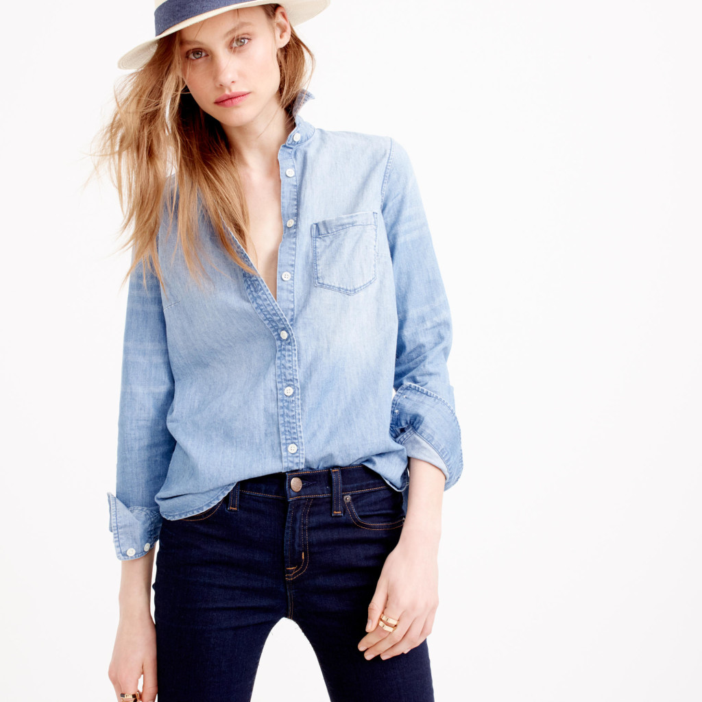 Excellent Softest Chambray Shirts For Fall - V-Style LN69