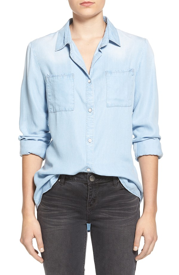 personal stylist chambray shirt