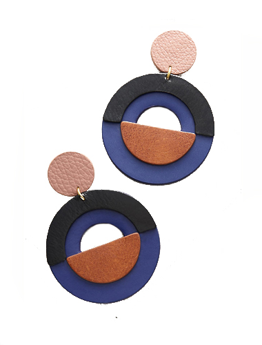 anthropology leather shoulder duster earrings
