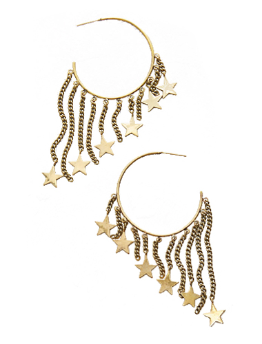 anthropology star shoulder duster earrings