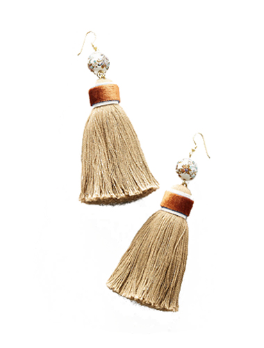 anthropology tassel shoulder duster earring