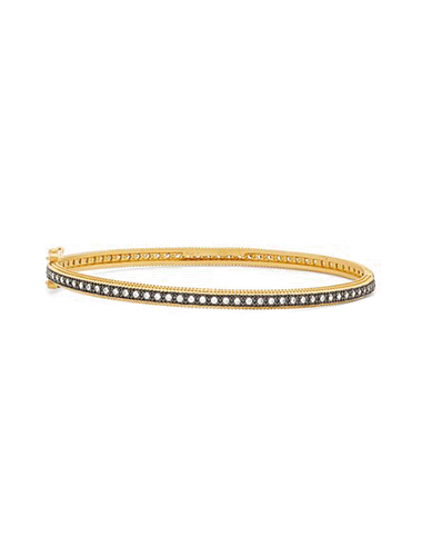 freida rothman mixed metal skinny bangle