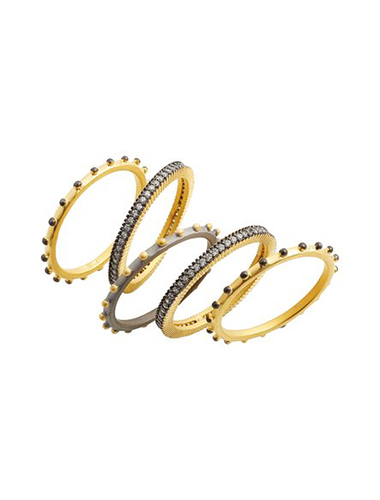 freida rothman mixed metal stacking rings