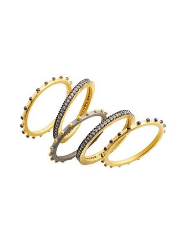 freida rothman mixed metal stacking rings