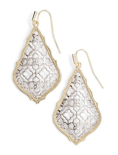 kendra scott mixed metal drop earrings
