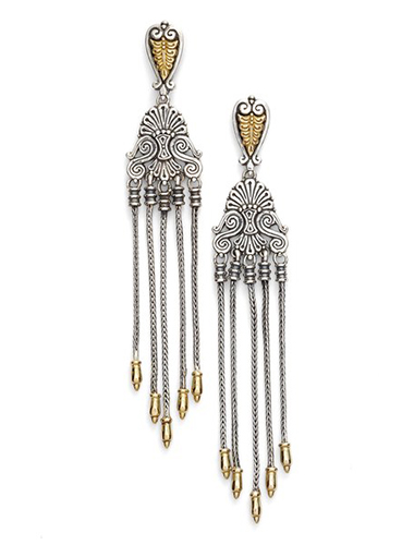konstantino mixed metal drop earrings