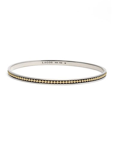 lagos mixed metal bangle