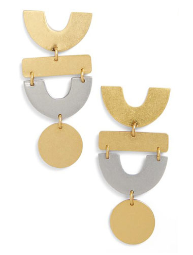 madewell mixed metal statement earrings