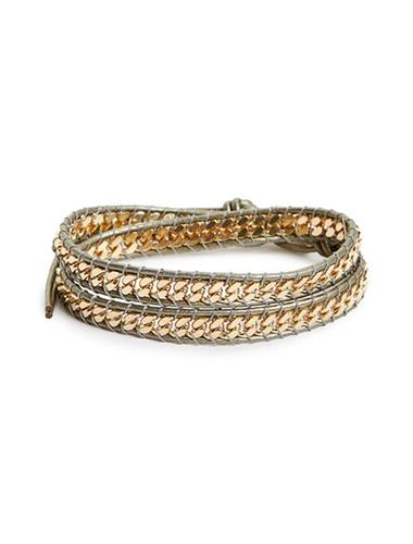 panacea mixed metal wrap bracelet