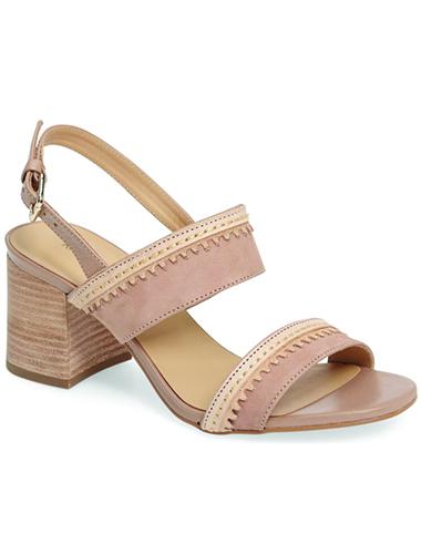 blush sling back heels