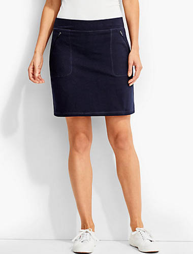 t by talbots navy skort