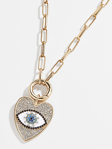 what to wear on valentines day heart necklace