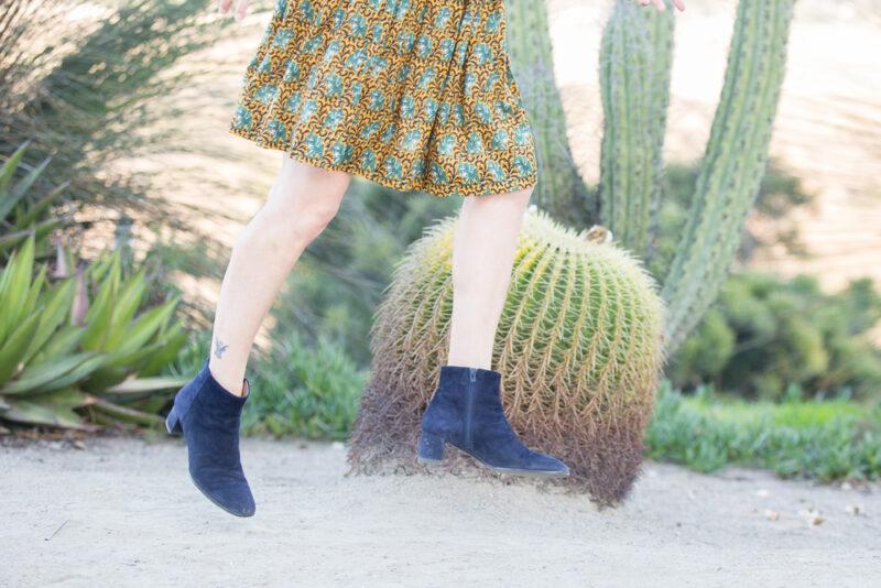 navy blue suede booties