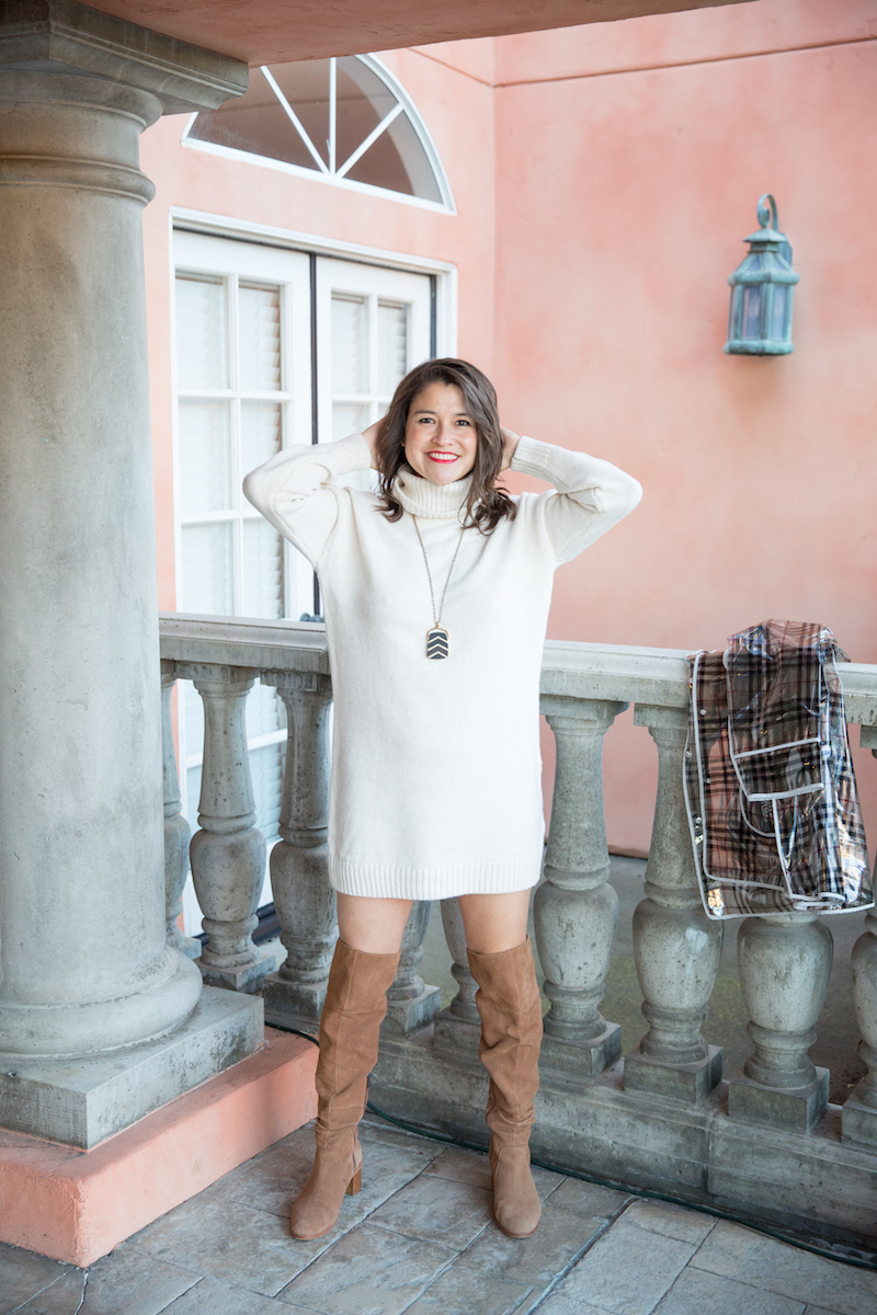 dresses to wear with over the knee boots