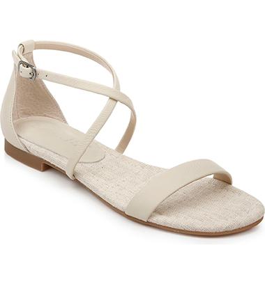 eggshell sandals