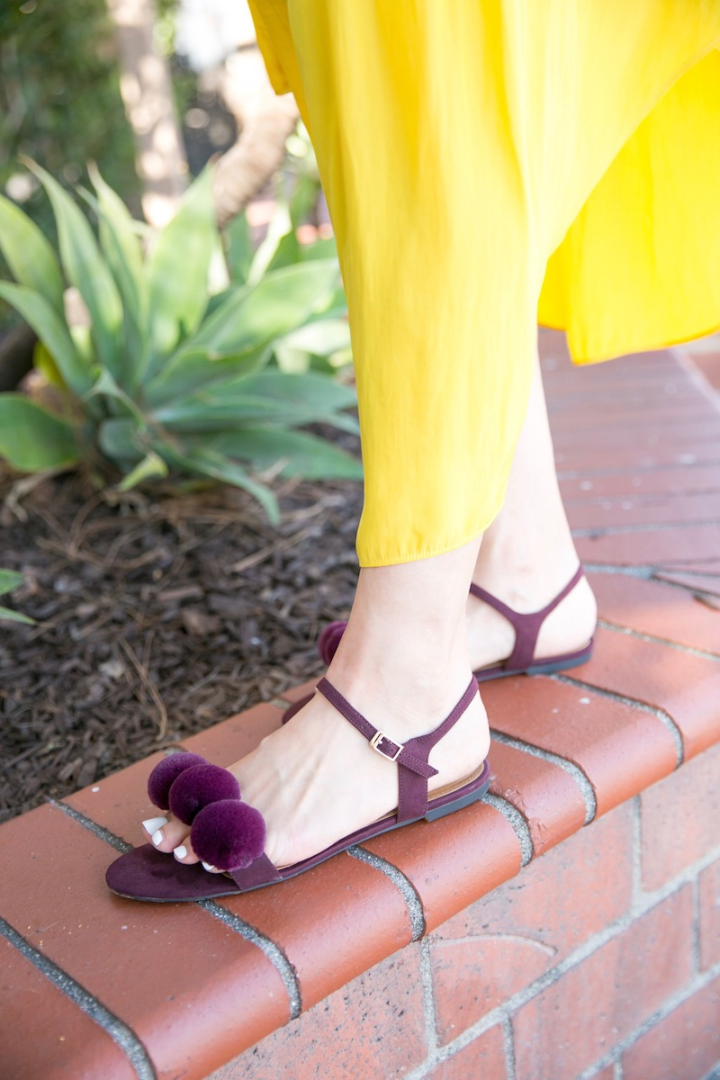burgundy and yellow