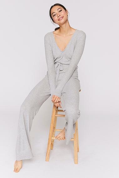 grey loungewear jumpsuit