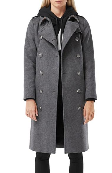 burberry kensington cashmere heritage trench coat