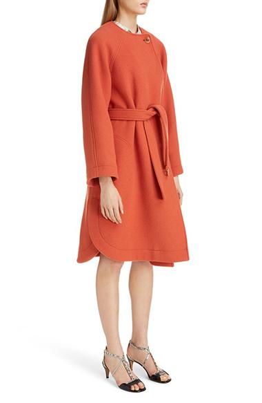 chloe iconic wool blend coat