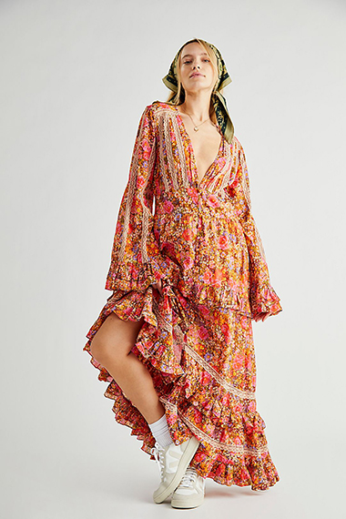 how to style a bohemian maxi dress