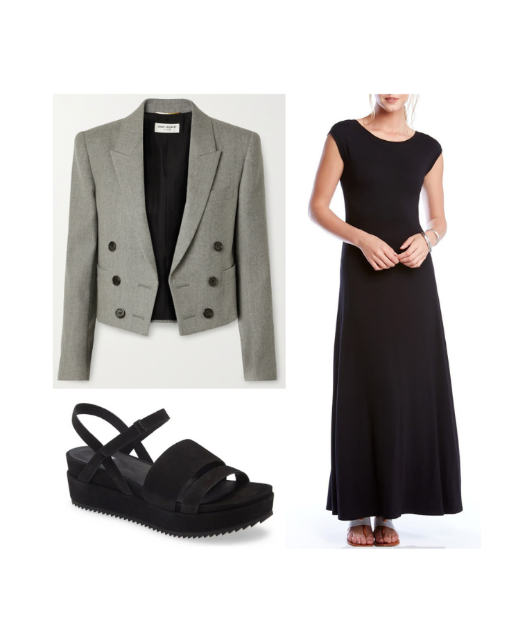How To Wear a Blazer With A Maxi Dress